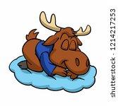 Moose Sleeping Vector...