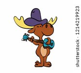 musician moose playing the...   Shutterstock .eps vector #1214219923