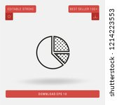 outline pie chart vector icon....