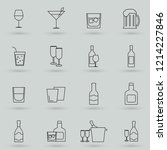 simple set of alcohol related... | Shutterstock .eps vector #1214227846