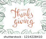 thanksgiving lettering.... | Shutterstock .eps vector #1214228410