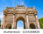 corinthian style paris... | Shutterstock . vector #1214268820