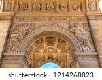 corinthian style paris... | Shutterstock . vector #1214268823