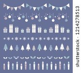 set of christmas borders ... | Shutterstock .eps vector #1214278513
