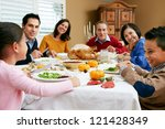 multi generation family... | Shutterstock . vector #121428349