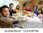multi generation family...   Shutterstock . vector #121428706