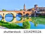 city river bridge panorama....   Shutterstock . vector #1214290126