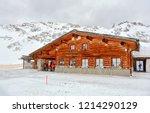 winter mountain snow ski resort ...   Shutterstock . vector #1214290129