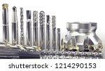 industrial metalworking tools ... | Shutterstock . vector #1214290153