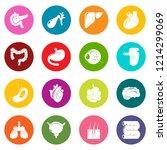 internal human organs icons set ...   Shutterstock . vector #1214299069