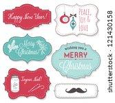 vintage christmas frames | Shutterstock .eps vector #121430158