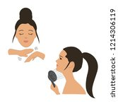 face building. exercises to...   Shutterstock .eps vector #1214306119