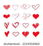 vector hearts set valentine's... | Shutterstock .eps vector #1214310463