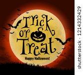 halloween poster. vector... | Shutterstock .eps vector #1214332429