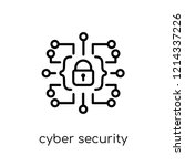 cyber security icon. trendy... | Shutterstock .eps vector #1214337226