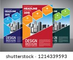 brochure template layout  cover ... | Shutterstock .eps vector #1214339593