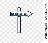 panel concept vector linear... | Shutterstock .eps vector #1214339776
