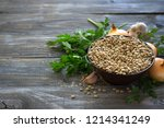 lentils with onion  garlic and...