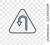 u turn concept vector linear... | Shutterstock .eps vector #1214343109