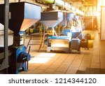 workshop for the production and ... | Shutterstock . vector #1214344120
