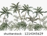 beautiful tropical summer... | Shutterstock .eps vector #1214345629