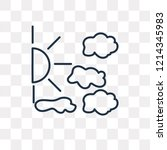 cloudy vector outline icon... | Shutterstock .eps vector #1214345983