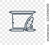 manuscript concept vector...   Shutterstock .eps vector #1214346430