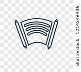 manuscript concept vector...   Shutterstock .eps vector #1214346436