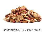heap of mixed nuts isolated on... | Shutterstock . vector #1214347516