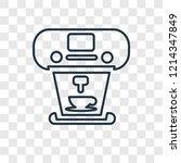 coffee maker concept vector... | Shutterstock .eps vector #1214347849