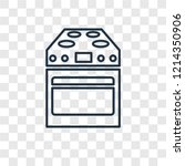 stove concept vector linear... | Shutterstock .eps vector #1214350906