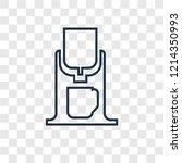 coffee maker concept vector... | Shutterstock .eps vector #1214350993