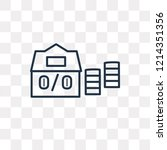 mortgage vector outline icon... | Shutterstock .eps vector #1214351356
