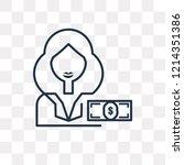 buyer vector outline icon... | Shutterstock .eps vector #1214351386