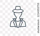 detective vector outline icon...   Shutterstock .eps vector #1214353753