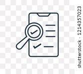ballot vector outline icon... | Shutterstock .eps vector #1214357023