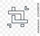crop vector outline icon...   Shutterstock .eps vector #1214358739
