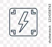 photograph vector outline icon... | Shutterstock .eps vector #1214358763