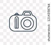 photograph vector outline icon... | Shutterstock .eps vector #1214358766