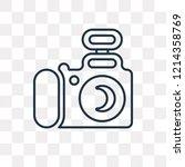 photograph vector outline icon... | Shutterstock .eps vector #1214358769