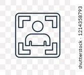 photograph vector outline icon... | Shutterstock .eps vector #1214358793