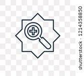 zoom in vector outline icon... | Shutterstock .eps vector #1214358850