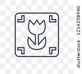 macro vector outline icon... | Shutterstock .eps vector #1214358940