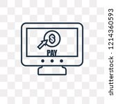 pay per click vector outline... | Shutterstock .eps vector #1214360593