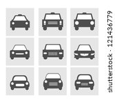 car icons set | Shutterstock .eps vector #121436779