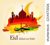 eid milad un nabi design ... | Shutterstock .eps vector #1214372026