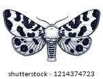 hand drawn butterfly tattoo.... | Shutterstock .eps vector #1214374723