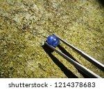 beautiful natural ceylon blue... | Shutterstock . vector #1214378683