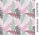 fern frond herbs  tropical... | Shutterstock .eps vector #1214379700