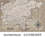 old  fantasy themed asia vector ... | Shutterstock .eps vector #1214381839